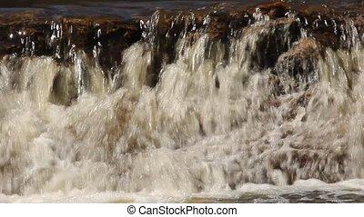 small rocky waterfall