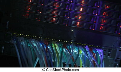Server Rack blue toned