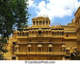 Palace of the Maharajah in Jaisalmer, the magnificent...