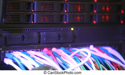 Network data cable cut - Network data cable is being cut by...
