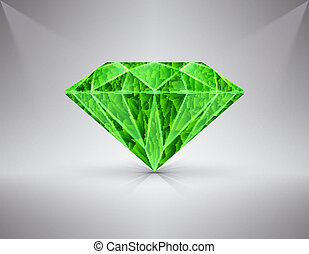 emerald - The figure depicts a jewel - an emerald.