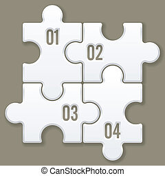 modern puzzle template