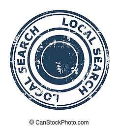Local search SEO concept stamp isolated on a white...