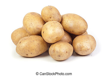 potatos on white