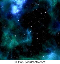 nebula sky - blue nebula sky