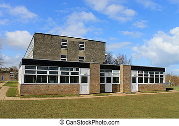 Secondary school building - Exterior of secondary school...