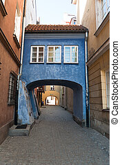 small street on the old  Warsaw