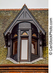 Victorian Window - A shot of an Old Victorian Window in...