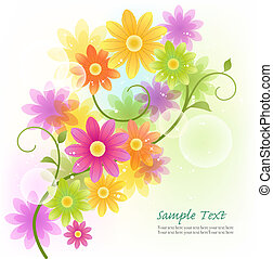 Vector Gerbera flower background - Beautiful Vector Gerbera...
