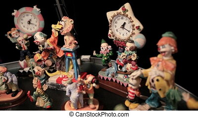 Clown and clock