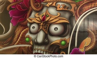 Mayan skull - artwork of mayan skull