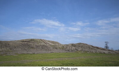 Pre-historic Cahokia Mounds, IL - Time lapse of People...