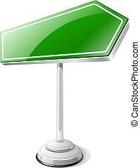 Information road traffic sign isolated on white.