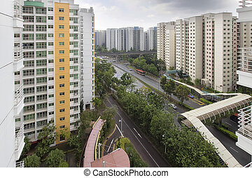 Singapore Government Housing Development in Punggol District