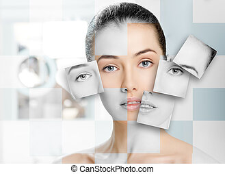 beauty portrait - beauty woman on the bathroom background