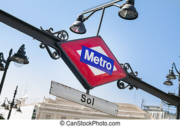 Metropolitain sign - Sign for the Metropolitain underground...
