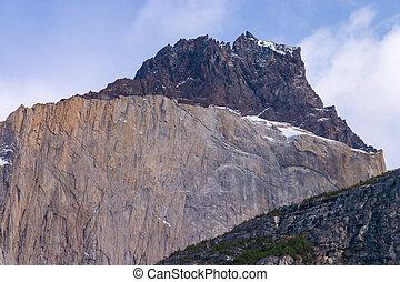 Los Cuernos detail in Torres del Paine