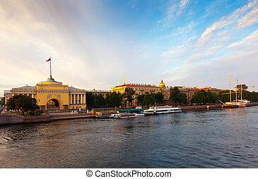 View of St. Petersburg in morning - View of St. Petersburg....