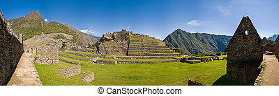 Machu picchu at late noon on a bright day