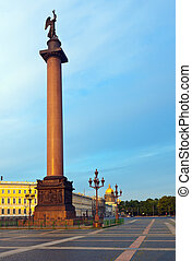 View of St Petersburg The Alexander Column in the Palace...
