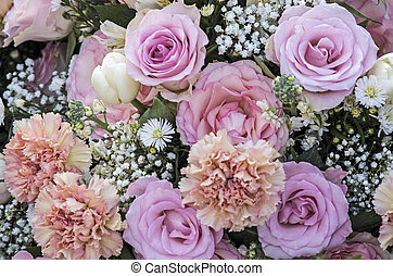 Bunch of flowers in pastel colors