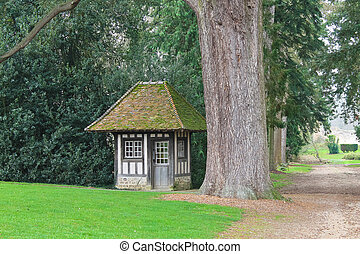 Small house in the park.