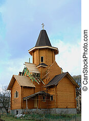 Russion orthodox church under constraction - Construction of...