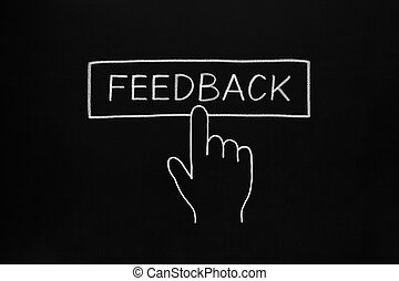 Hand Clicking Feedback Button - Hand clicking Feedback...