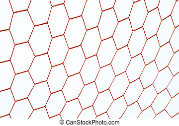 red football net with sky