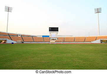 small football stadium - empty small football stadium