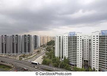 Singapore Planned Community with Private and Government...