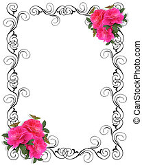 Pink Roses Border ornamental - Image and illustration...