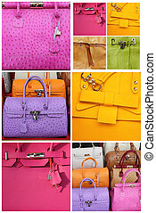 colorful leather handbags collection, Italy, Europe