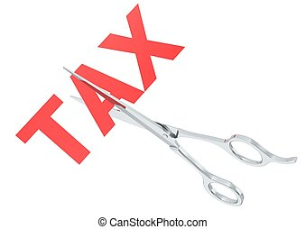 Tax cut - Rendered artwork with white background