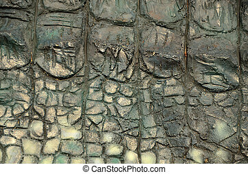 Reptile background - A concrete cast of alligator skin