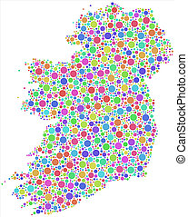 Map of Ireland - Europe -