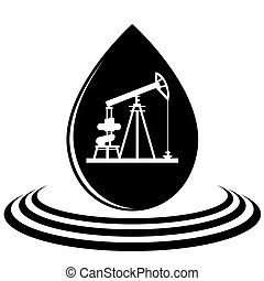 A drop of oil and the oil pump - Mining and quarrying....
