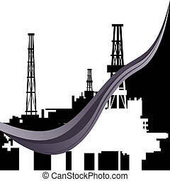 Mining and quarrying-1 - Mining and quarrying. Oil rigs....