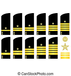 Shoulder patches employees of the R - Military ranks and...