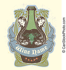 Vintage label - Vector image of Vintage label in a kind a...