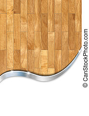 Wooden Floor Business Background - Wood and metal vertical...
