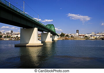 Sava bridge - Train bridge on Sava river in Belgrade