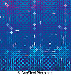 Abstract mosaic in royal blue - Abstract royal blue vector...
