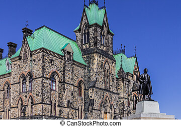 Parliament Building on the Parliament Hill in Ottawa,...