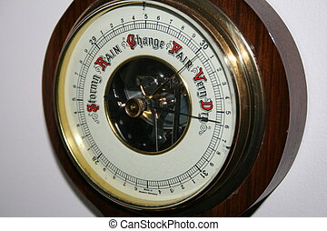 Barometer on a wall