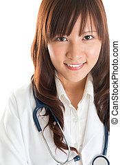 Nursing student - Young Asian nurse or medical student...