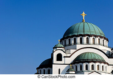 Chruch roof - Roff of the cathedral of Saint Sava