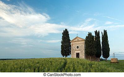 vitaleta, Toscana,  cappella,  Di