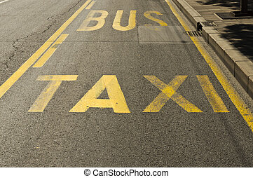 Taxie and bus - Taxi and bus sign