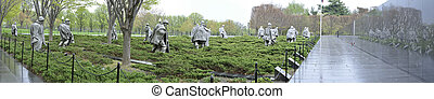 Korean War Memorial - Beautiful wide panoramic view of the...
